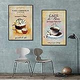 XWArtpic Cartel nórdico Vintage Moderno Minimalista café Postre Lienzo Pintura Abstracta decoración del hogar Cocina Pared Cuadros 30 * 40 cm