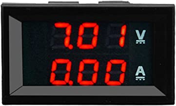 100V 10A DC Digital Voltmeter Ammeter Blue + Red Dual Color Display LED Amp Dual Digital Volt Meter Gauge 2 in1 Multimeter(Red)
