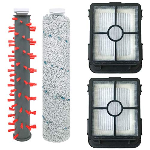 NICERE Aspirador reemplazos alfombra cepillo piso cepillo cepillo cepillo cepillo filtro para 2554A aspirador accesorios, 4 unids