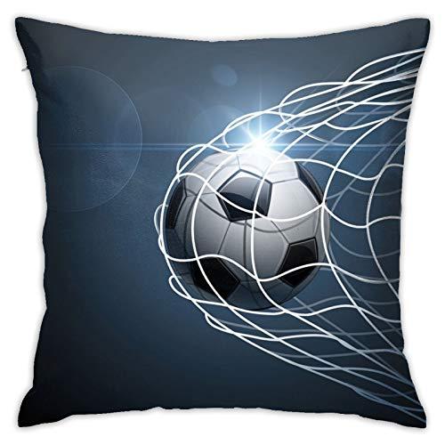 QUEMIN Fundas de almohada para portería, cojín de fútbol para decoración del hogar, sofá, cama, coche, 45,7 x 45,7 cm