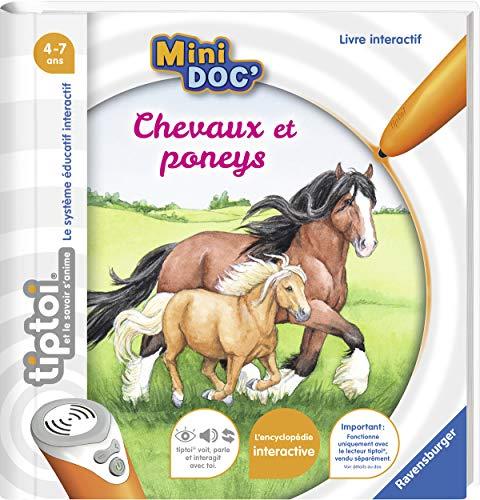 Ravensburger - Livre interactif tiptoi Mini Doc' - Les chevaux et poneys - Jeux électroniques éducatifs sans écran en français - Enfants à partir de 4 ans - 00031