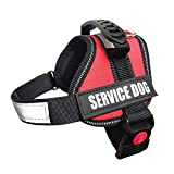 ALBCORP Service Dog Vest Harness - Reflective - Woven Polyester &...