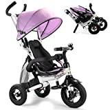 Best Baby Bike Strollers - Costzon Baby Tricycle, 6-in-1 Foldable Steer Stroller, Learning Review