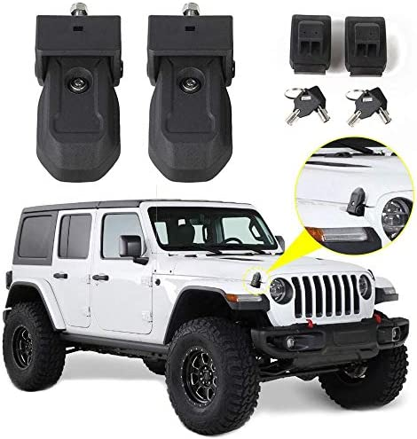 RT TCZ Hood Latches Hood Lock Catch Latches Kit Anti Theft Accessories for 2018 2019 Jeep Wrangler product image