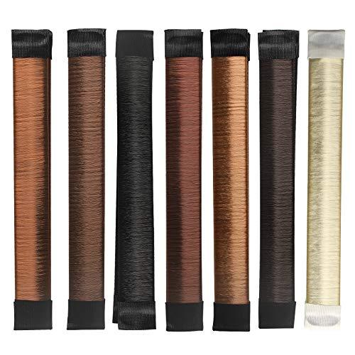 ZeayeA Donut Bread Maker, Hair Bun Styling, Bandeja de moda para el cabello, Accesorios para bandas para el cabello, Herramientas de bricolaje para el cabello para mujeres, 7 piezas (7 colores)