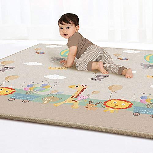 Kinderspielmatte Moonvvin Baby krabbelmatte doppelseitige wasserdichte kinder spielen gymnastikmatten ideales geschenk für baby baby geschenk 79