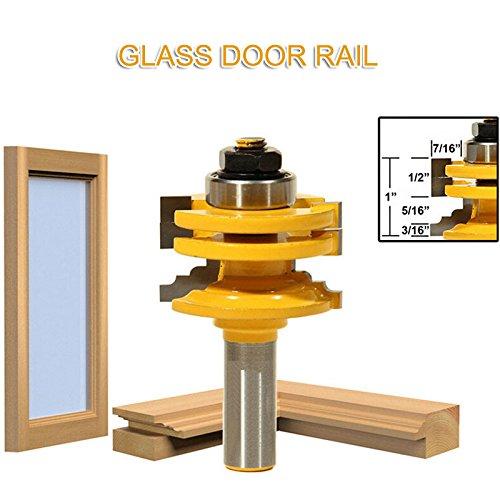 Crazywind Wood Cutter Glastürschiene Stile Reversible Fräser Langlebiges Schneidwerkzeug Baumarkt