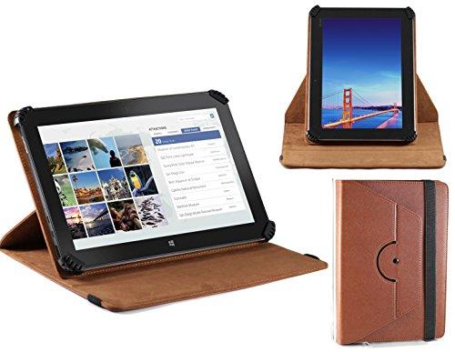 Navitech Tablet-PC rotierbares bycast Leder Case / Cover in Schwarz für das Dell Venue 11 pro 7140