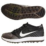 Nike Flyknit Racer G, Zapatillas de Golf para Hombre, Negro (Black/White 001), 47.5 EU