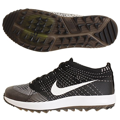 Nike Men's Flyknit Racer G Golf Shoes (10 M US, Black/White)