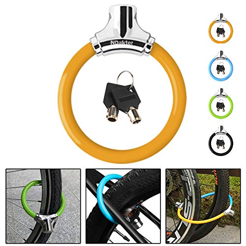 NDakter Bike Lock 12mm Heavy Duty, Portable Bicycle Disc Lock, Cycling Locks Anti-Theft High Security for Mountain Road Commute Bike, Kids' Bicycles (Yellow)