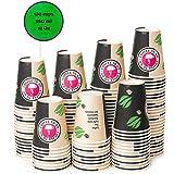 120 Vasos Desechables de Café Para Llevar - Vasos Carton 360 ml 12 Onzas para Servir el Café, el...