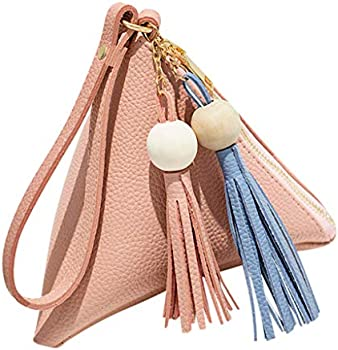 Suiki Women's Mini Fringe Leather Clutch Purse Hand Bag
