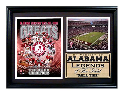 Encore Select 129-01 NCAA Alabama Greats Framed Print, 12-Inch by 18-Inch
