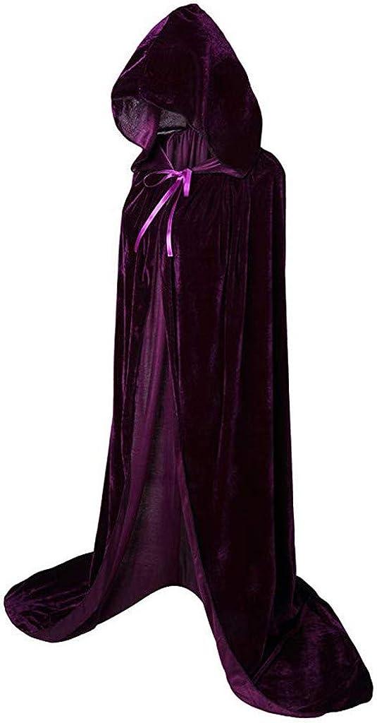 Geilisungren Unisex Weihnachten Halloween Kost/üm Karneval Fasching Costume Maskenball Cosplay Vampir Lang Einfarbige Umhang Cape mit Kapuze f/ür Damen Herren Erwachsene