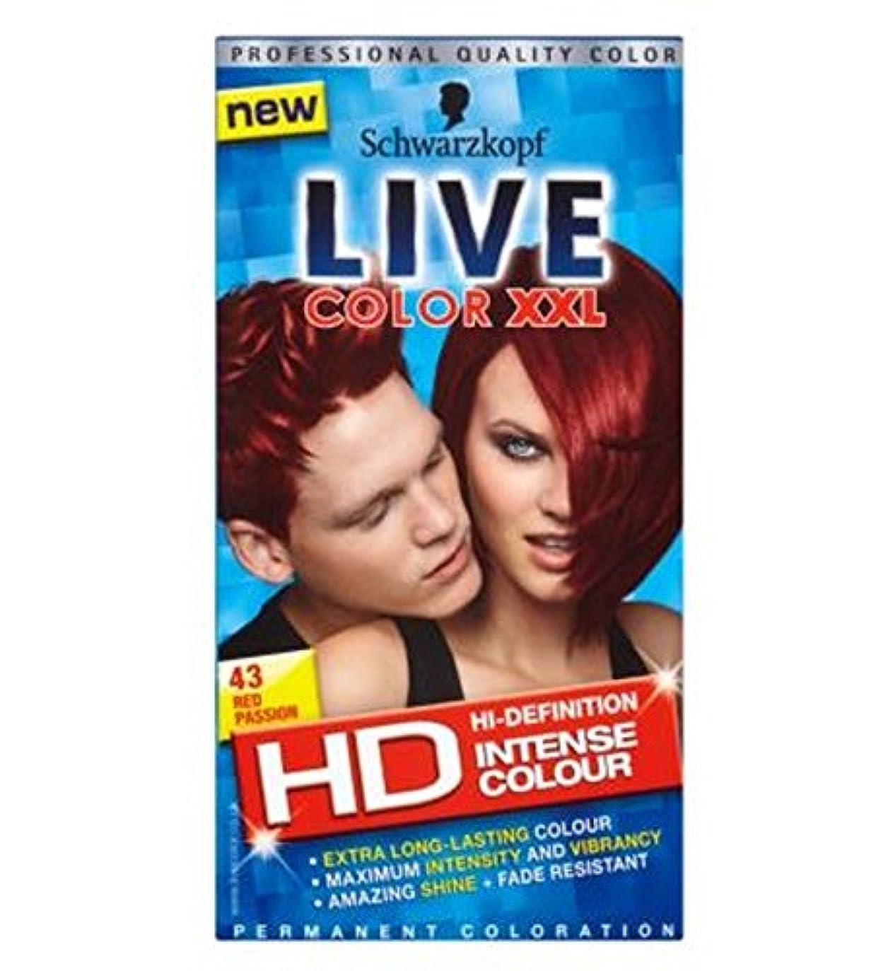 迫害するモジュールそれらシュワルツコフライブカラーXxl Hdの43赤い情熱パーマネントレッドヘアダイ (Schwarzkopf) (x2) - Schwarzkopf LIVE Color XXL HD 43 Red Passion Permanent Red Hair Dye (Pack of 2) [並行輸入品]