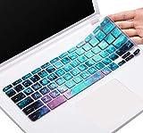 HülleBuy Tastaturabdeckung für ASUS Chromebook Flip C434TA C433TA 2-in-1 Laptop, ASUS C302CA/C423NA/C425TA/C433TA/C434TA-DH342T DSM4T DS384T C523NA Chromebook, Buchstaben in Großbuchstaben Galaxy