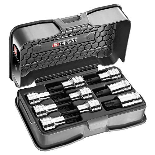 Facom Amex. 3A Steckschlüsselsatz, Torx Schraubendreher 1/2TX20–60, schwarz, 9-teiliges Set