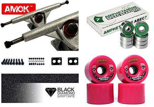 F Fityle 2pcs Skateboard Truck Kingpin Hardware Set Longboard Vite Bulloni 65mm 50mm