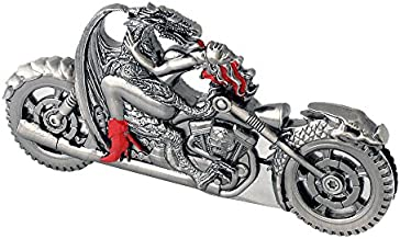 Vulcan Gear Dragon Riding with Naked Girl Chopper Motorcycle Metal Handle Folding Knife