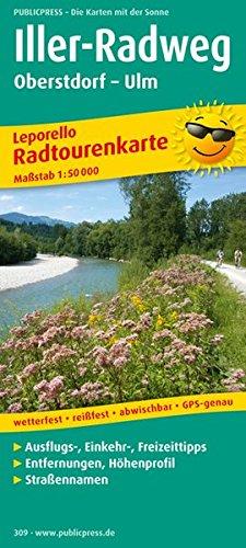Iller-Radweg, Oberstdorf - Ulm: Leporello Radtourenkarte mit Ausflugszielen, Einkehr- & Freizeittipps, wetterfest, reissfest, abwischbar, GPS-genau. ... GPS-genau (Leporello Radtourenkarte / LEP-RK)