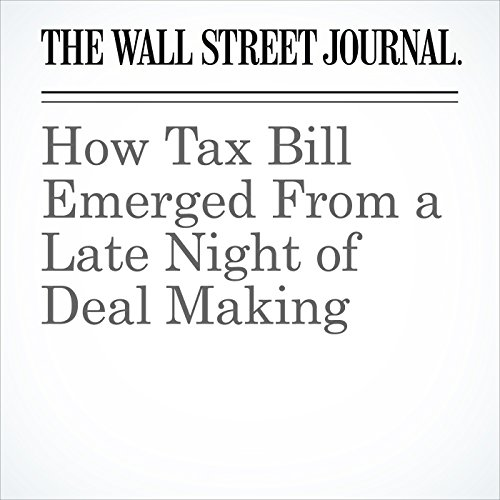 How Tax Bill Emerged From a Late Night of Deal Making copertina