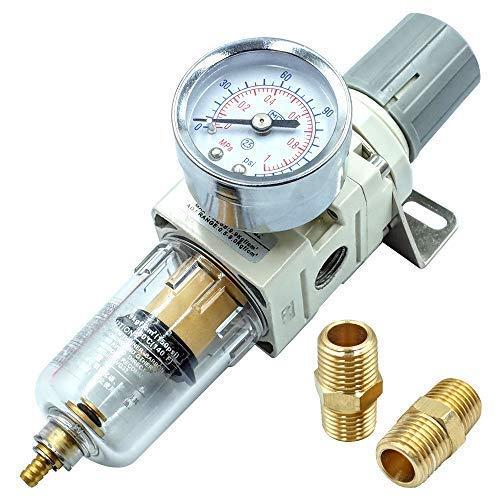 LHQ-HQ. 1/4 Zoll NPT Luftfilter Druckregler, Wasser-Trap-Air Tool Compressor Filter mit Manometer