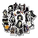 20 PCS Stickers Pack Overwatch Aesthetic Reaper Vinyl Colorful Waterproof for Water Bottle Laptop Scrapbooking Luggage Guitar Skateboard