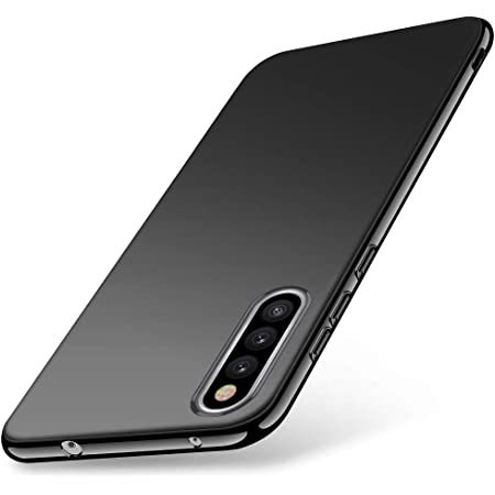 Samsung Galaxy A41用 ケース 薄型 柔らかい TPU 軽量 耐衝撃 電話ケース 全面保護カバー レンズ保護 ストラップホール付き Samsung Galaxy A41 用 ケース 対応 ケース ブラック