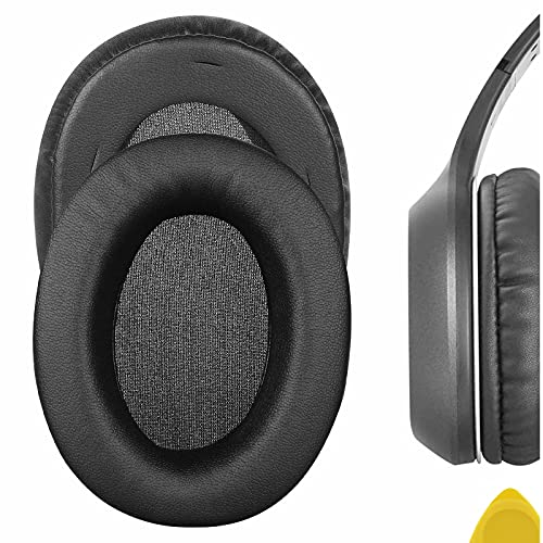 Geekria QuickFit Protein Leather Replacement Ear Pads for Edifier W800BT (CMIIT ID:2019DP1007) Headphones Earpads, Headset Ear Cushion Repair Parts (Black)