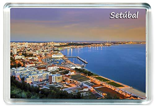 DreamGirl I380 Setúbal Jumbo Imán para Nevera Portugal Travel Fridge Magnet
