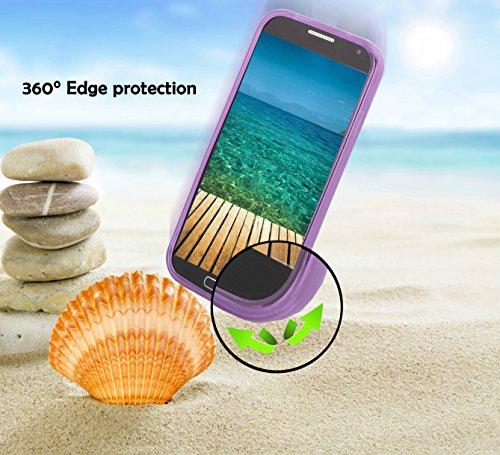 Cadorabo Hülle für Huawei Ascend Y300 - Hülle in Flieder VIOLETT – Handyhülle aus flexiblem TPU Silikon im X-Line Design - Silikonhülle Schutzhülle Soft Back Cover Case Bumper - 3