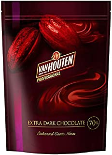 VANHOUTEN ( バンホーテン ) NEW エキストラダークチョコレート カカオ70% 1kg