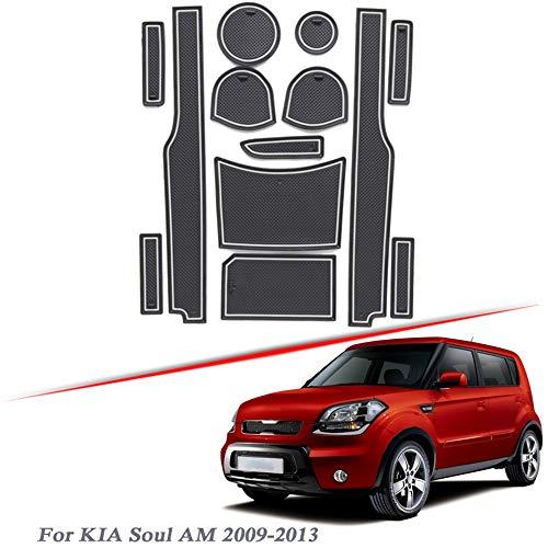 per Mitsubishi Pajero V80 2006-2020 Latex Gate Slot Pad Porta Interna Scanalatura Mat Antiscivolo Antipolvere Mat Accessorio QSONGL 13 pz Car Styling