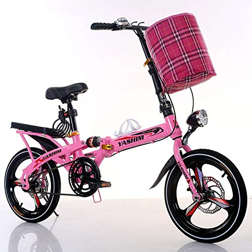 XXHDEE Kinderfahrrad, Primar- Und Sekundarschulgeschwindigkeits-Mountainbike, Rosa Schwarzes Weißes Fahrrad Kinderfahrrad (Color : Pink, Size : 14Inch)