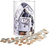Cpandthy Piggy Bank No Opening for Adults, Unopenable Acrylic Saving Money Jar,Clear Piggy Bank Cash and Coin for Adults Boys Kids DIY Gift Table Decoration-Large (Medium)