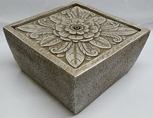 Tavolo Floral Square Tabletop Fountain by Ellen DeGeneres, Natural