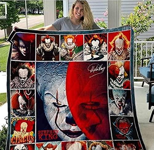 CAETNY Nomes Personalizados Personalizados Este é MEU cobertor de filme de Terror, Este é MEU cobertor de filme de Terror, Este é MEU cobertor de filme de Terror, Horror Blanekt Presente para o HAL