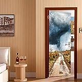 JHYT 2 PanelesSol A Través De NubesCuadro De Pared Murales Pegatinas De Pared Etiqueta De La Puerta Papel Tapiz Calcomanías Decoración del Hogar July049