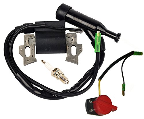 OxoxO Interruptor de parada de motor encendido y apagado 36100-ZE1-015 36100-883-005 con bobina de encendido para motores Honda GX120 GX160 GX200 5.5HP 6.5HP