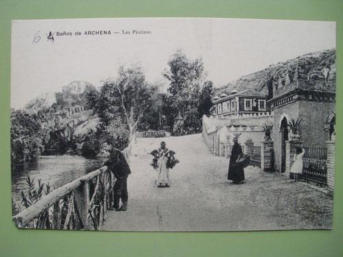 Antigua Postal - Old Postcard : BAÑOS DE ARCHENA - Las Piscinas. Murcia.