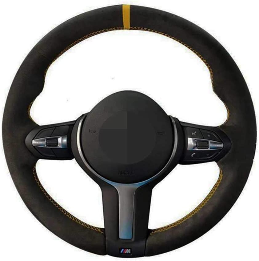 Popular product SAXTZDS Our shop most popular Car DIY Leather Hand-Sewn Steering B for Wheel Fit Cover