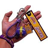 レイカーズ#24コービーブライアントバスケットボールチャームキーホルダージャージーペンダントアクセサリーミニバスケットボール、ファンお土産ギフト【ギフトブレスレット+カード】
