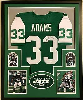 Framed New York Jets Jamal Adams Autographed Signed Jersey Memorabilia JSA