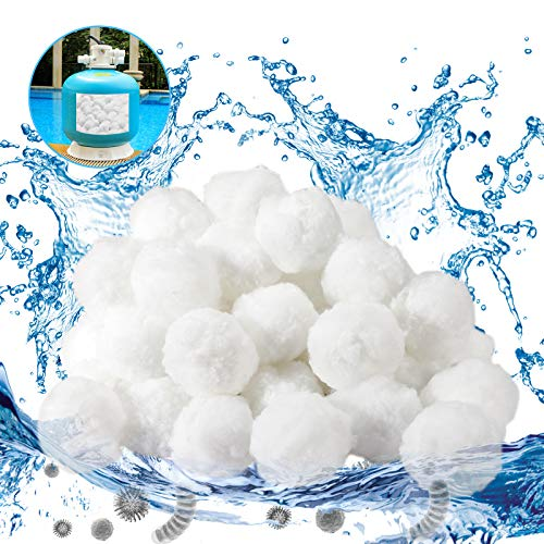 Gafild Filterbälle, 700g Poolfilter Balls Alternative für 25kg Filtersand,Filter Balls Filterbälle Filtermaterial für Pool Sandfilter, Schwimmbad, Filterpumpe