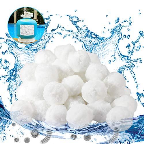 Gafild Sfera filtrante per Piscina,1400g Filtro Balls Sfere per Filtrazione a Sabbia per Piscine può Essere riutilizzato Sabbia Filtrante, Utilizzate in Piscine, Pompe Filtranti e Acquari