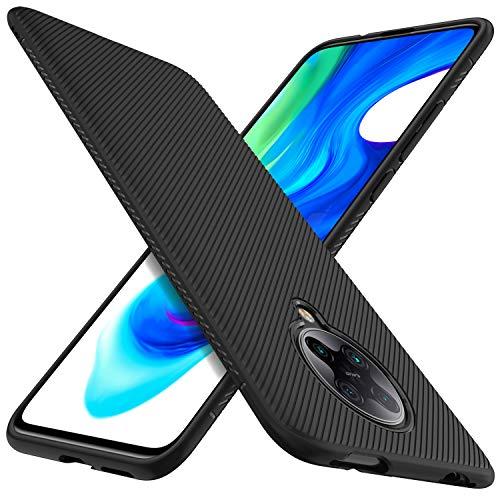 iBetter für Xiaomi Poco F2 Pro Hülle, Ultra Thin Silikon hülle Abdeckung Telefon Case Stoßfest Case Handyhülle Schutzhülle Shock Absorption Backcover passt für Xiaomi Poco F2 Pro Smartphone,Schwarz