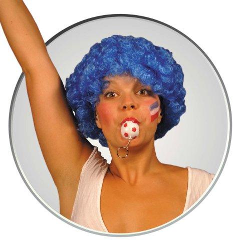 Party Pro Wig Pop Red Perruque 830104 Bleu, Taille Unique