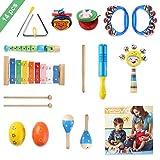 YISSVIC Juguetes de Instrumentos Musicales para Niños 14 en 1 Set Música Juguete...