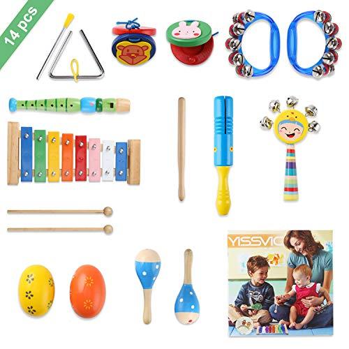 YISSVIC Juguetes de Instrumentos Musicales para Niños 14 en 1 Set Música...